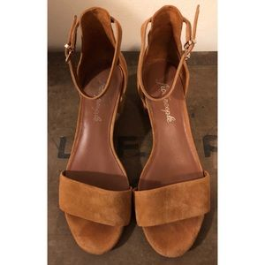 Free People Brown Suede Heeled Sandals Size 38